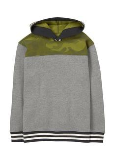 Gymboree Little Boys' Pieced Pullover Hoodie Multi L