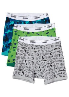 Gymboree Little Boys' Printed Boxer Brief (Pack of 3)  M