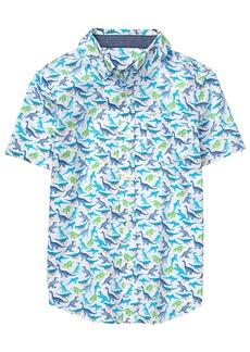 Gymboree Boys' Little Short Sleeve Button up Shirt  L