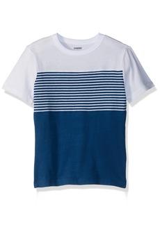 Gymboree Little Boys' Short Sleeve Colorblock Stripe Tee  M