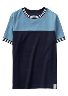 Gymboree Boys' Little Short Sleeve Two-Tone Top  XS