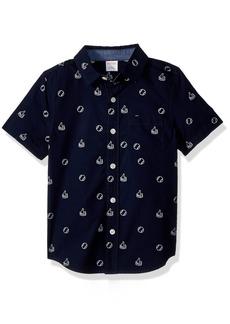 Gymboree Boys' Little Short Sleeve Woven Shirt  L