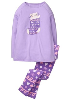 Gymboree Little Girls' 2-Piece Pajama Set Feline  L