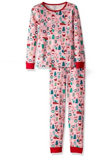 Gymboree Little Girls' 2-Piece Tight Fit Long Sleeve Pajama Set