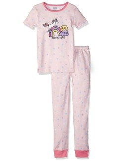 Gymboree Little Girls' 2-Piece Tight Fit Short Sleeve Pajama Set