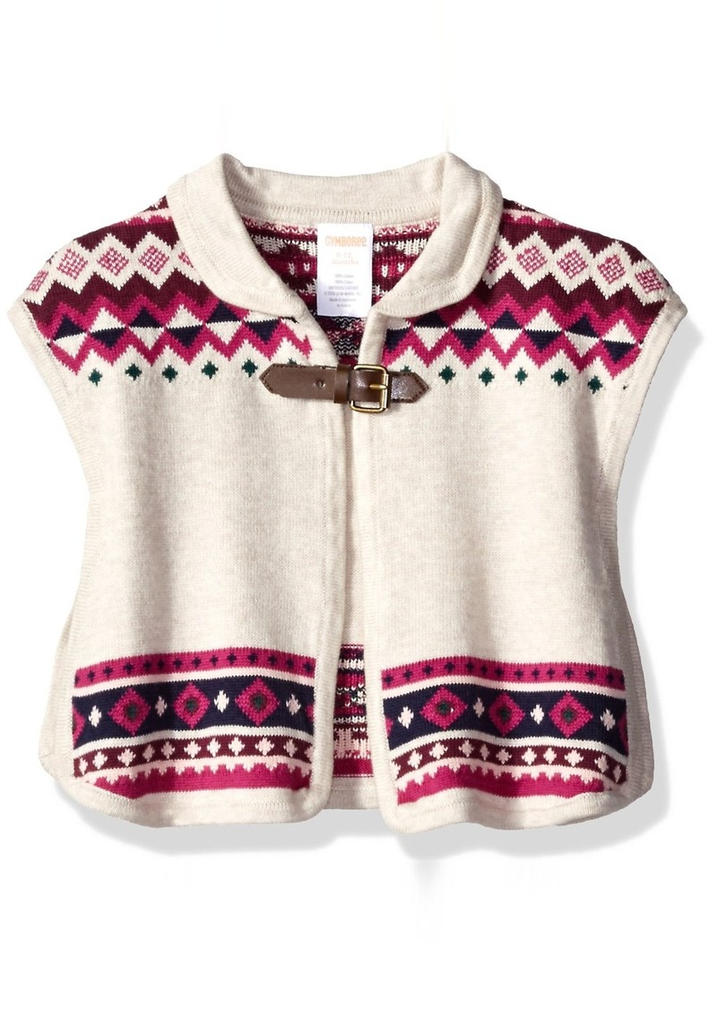 Gymboree Little Girls' and Toddler Fairisle Blanket Sweater