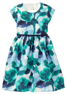 Gymboree Girls' Little Floral Print Dressy Party Dress Green