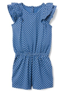 Gymboree Little Girls' Flutter Sleeve Short Romper