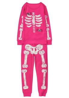 Gymboree Little Girls' Glow-in-The-Dark Graphic Tight-Fit Pajamas