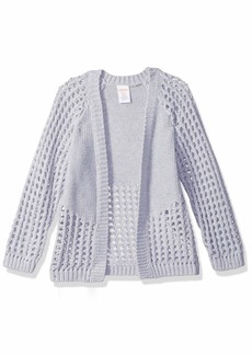 Gymboree Little Girls' Long Sleeve Perforated Open Cardigan  L
