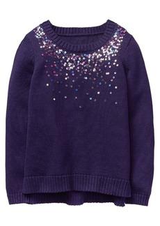 Gymboree Girls' Little Sequin Popover Sweater  S