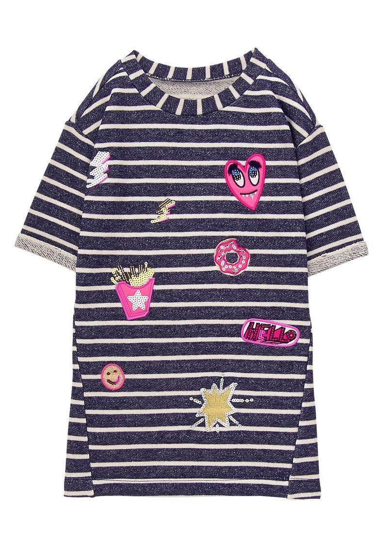 453a3ec55 Girls  Little Striped Shift Dress Navy