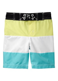 Gymboree Toddler Boys' Colorblock Swim Trunks