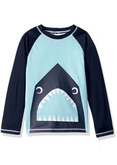 Gymboree Boys' Toddler Long Sleeve Fishing Shark Print Rashguard