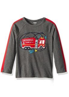 Gymboree Toddler Boys' Long Sleeve Tee Firetruck Grey