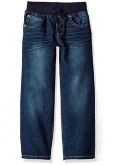 Gymboree Boys' Toddler Pull-On Straight Jeans Light wash Denim