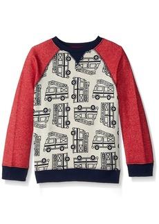 Gymboree Boys' Toddler Pullover Sweatshirt Fire Truck Tango red T
