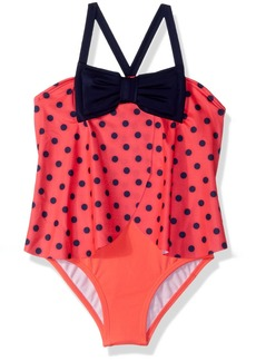 Gymboree Girls' Toddler 1-Piece Ladybug Swimsuit neon red