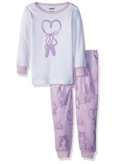 Gymboree Girls' Toddler 2-Piece Tight FIT Long Sleeve Pajama Set