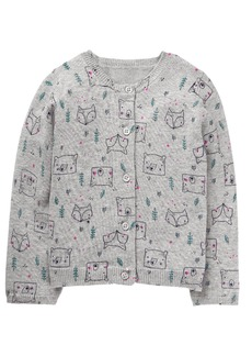 Gymboree Girls' Toddler Animal Print Cardigan