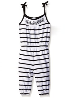 Gymboree Toddler Girls' Black and White Striped Romper