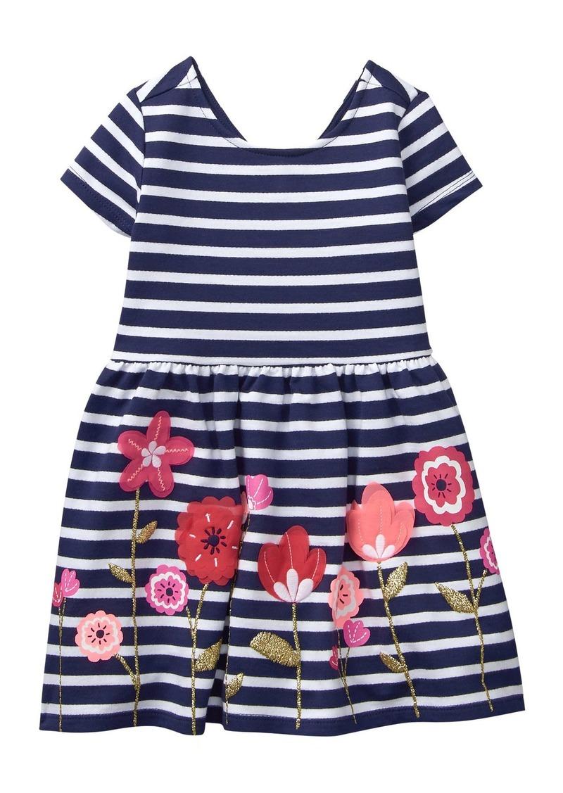 46adb6028 Toddler Girls  Cap Sleeve Back Bow Knot Knit Dress T