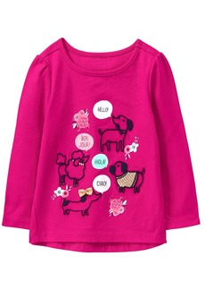 Gymboree Toddler Girls' Easy Li'l Long Sleeve Graphic Tee