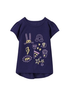 Gymboree Toddler Girls' Easy Li'l Short Sleeve Graphic Tee