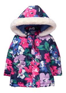 Gymboree Girls' Toddler Floral Print Puffer Jacket