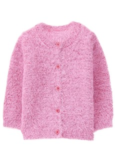 Gymboree Toddler Girls' Fuzzy Button up Sweater