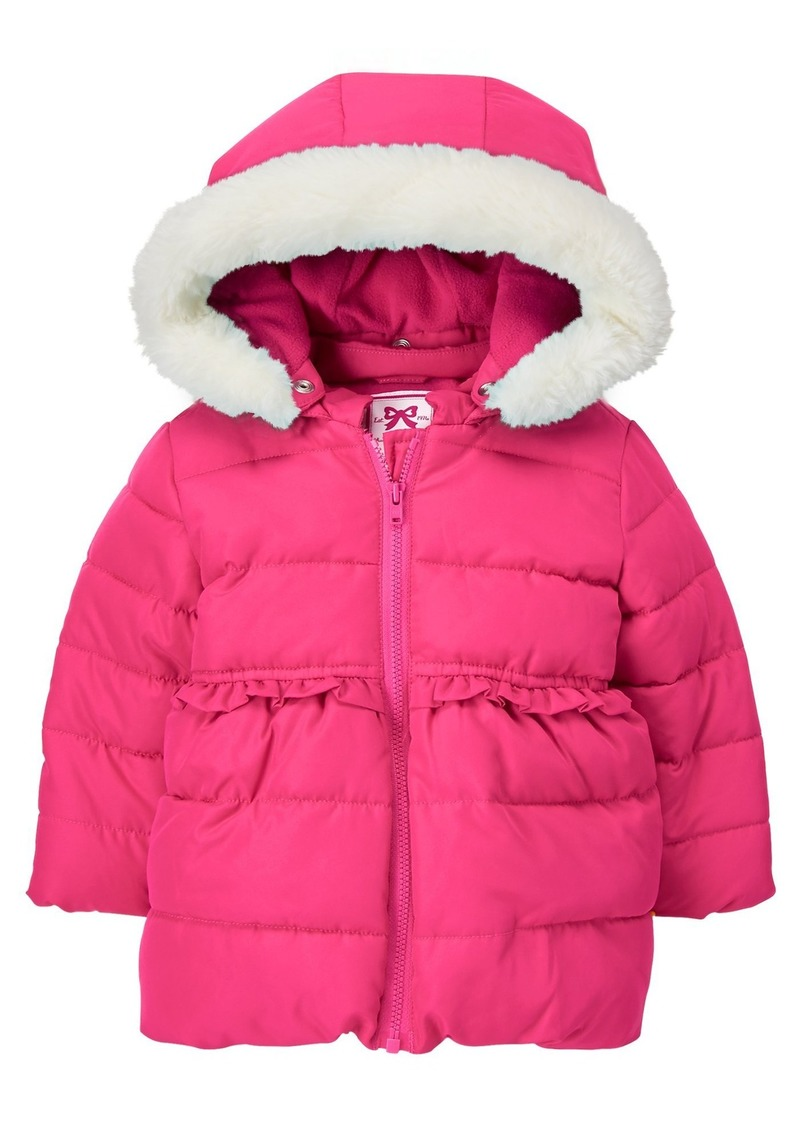 c8b1d78eff316 SALE! Gymboree Gymboree Girls  Toddler Jacket with Faux Fur Hood Trim