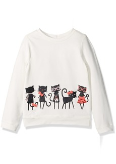 Gymboree Toddler Girls' Kitten Friends French Terry Top