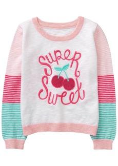 Gymboree Girls' Toddler Long Sleeve Stripe Sweater Super Sweet