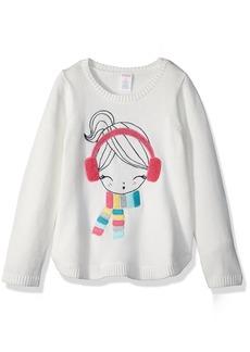 Gymboree Girls' Toddler Long Sleeve Winter Gal Sweater