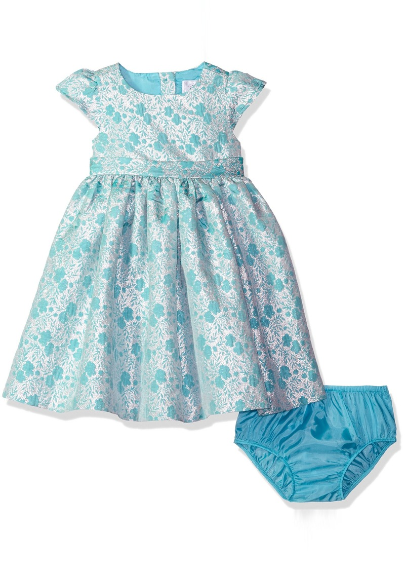 40f94a97cd6f Gymboree Toddler Girls  Mint and Silver Floral Jacquard Dress Multi T