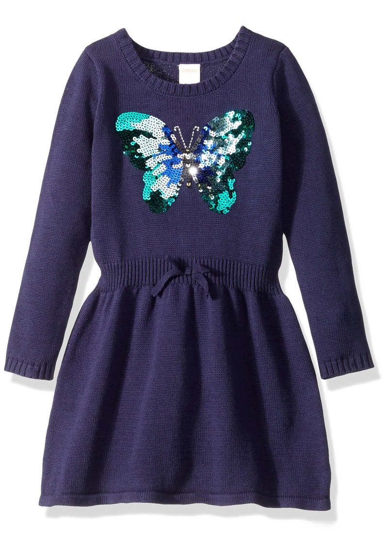 Gymboree Big Girls' Navy Dress with Butterfly