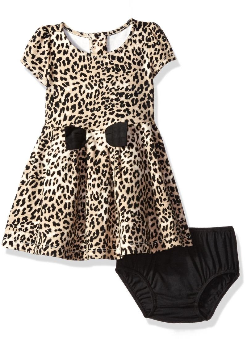 Gymboree Little Girls' Toddler Short Sleeve Leopard Print Dress Multi T