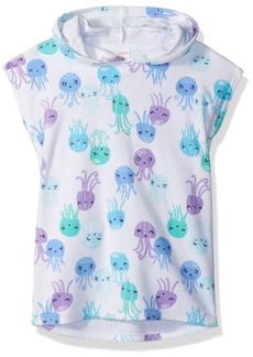 Gymboree Girls' Toddler Short Sleeve Octopus Print Hooded Cover-Up