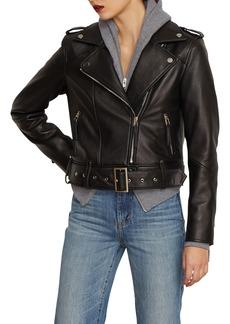 Habitual Jeans Habitual Aubrey Leather Moto Jacket