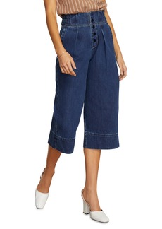 Habitual Jeans Habitual Button Fly High Rise Wide Leg Crop Nonstretch Jeans (Cypress)