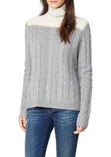 Habitual Jeans Habitual Devin Colorblock Cable Knit Turtleneck Sweater