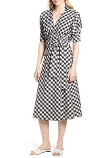 Habitual Jeans Habitual Gingham Wrap Midi Dress