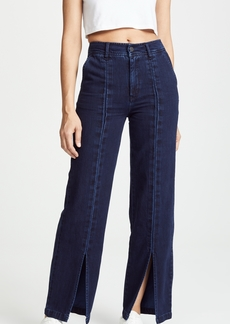 Habitual Jeans Habitual High Rise Slit Front Straight Trousers