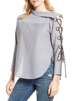 Habitual Jeans Habitual Lilliana Lace-Up Sleeve Top
