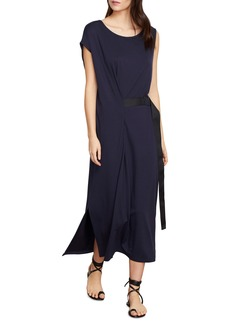 Habitual Jeans Habitual Pippa Belted Stretch Cotton Blend Wrap Dress