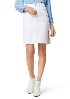 Habitual Jeans Habitual Willa High Waist Raw Hem Denim Pencil Skirt
