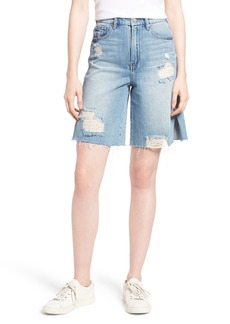 Habitual Jeans Habitual Wylie High Rise Distressed Bermuda Denim Shorts (Varnish)