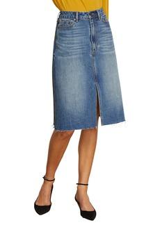 Habitual Jeans Habitual Yasmina High Rise Mix Media Denim Plaid Skirt