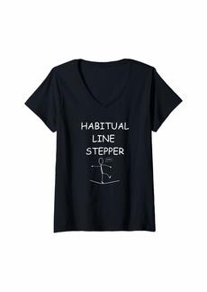 Habitual Jeans Womens Habitual Line Stepper V-Neck T-Shirt