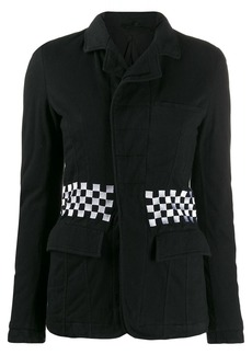 Haider Ackermann checkered waistband jacket